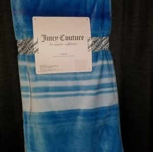 Blue Juicy Couture throw